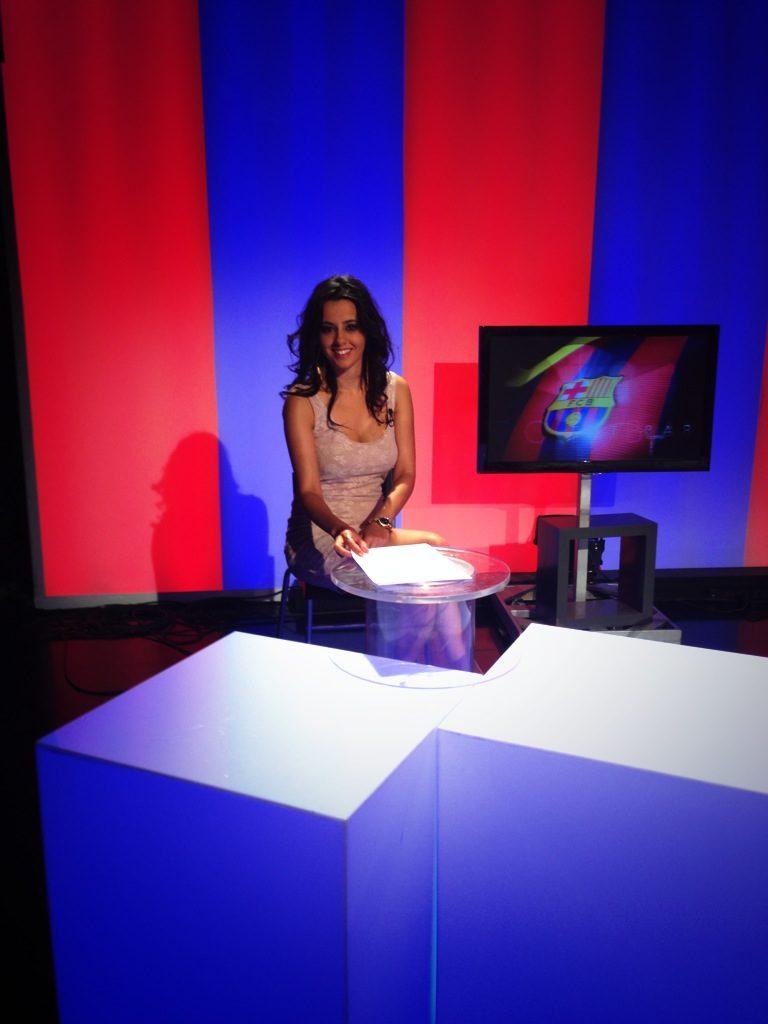 presentadora de television irene diaz fc barcelona tv
